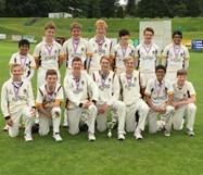 The U15s team celebrate their victory at Kendal