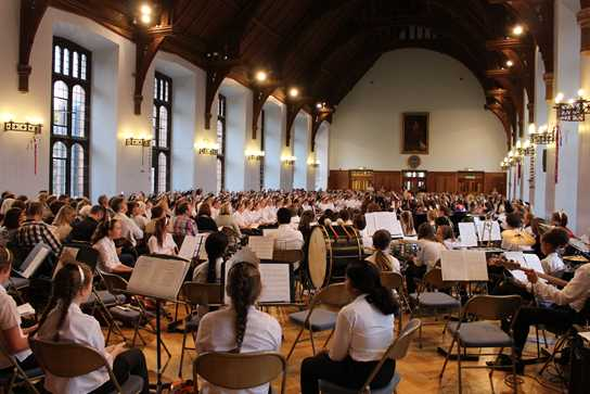 An evening of awards and music celebrating American Independence Day filled the girls' Great Hall