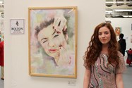 Sixth Form student Annie Linfitt exhibits her work