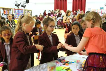 Year 6 pupils organised and ran the stalls on Charity Afternoon