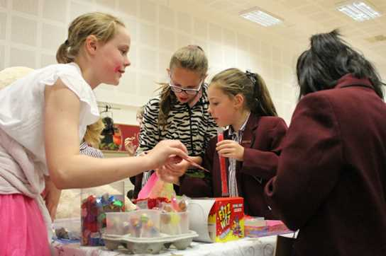 There were lots of different things on offer, from sweets and games to hair styling and make up
