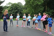 The girls were really excited to be coached by a member of the England Netball team
