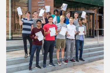 Boys have been celebrating an excellent crop of A level results
