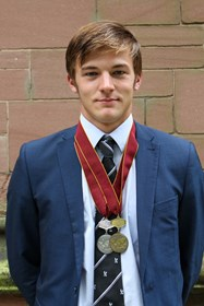 Arron returned to school with Bronze and Silver Euro Water-Skiing medals