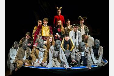 Cast from the recent joint production of Dr Faustus