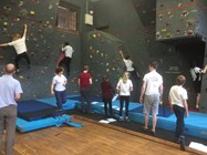 Pupils can take part in climbing club activities during lunchtimes