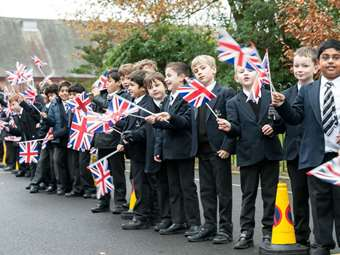 Junior Boys lining the procession
