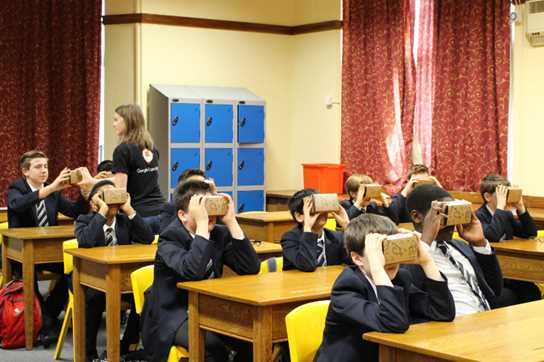 Pupils in Years 7-9 really enjoyed the Google Expeditions