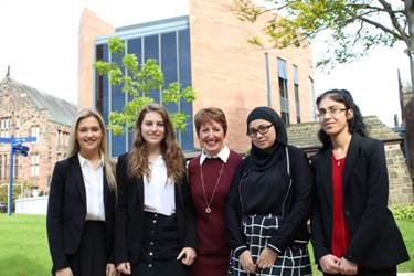 Keynote Speaker Fiona Gibson with some of the Year 12 girls