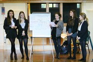 Pupils presenting their ideas in a