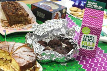 A variety of delicious cakes were donated to the event