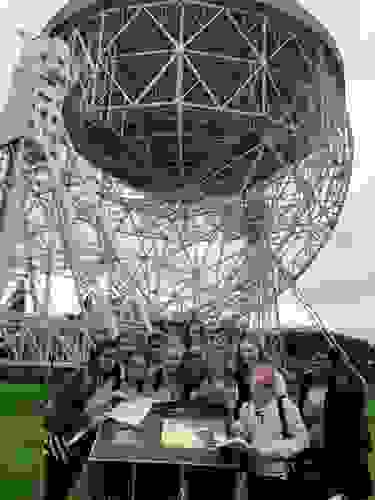 Some of the Year 8s with the Lovell Telescope at Jodrell Bank