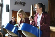 The girls enjoyed trying out different instruments