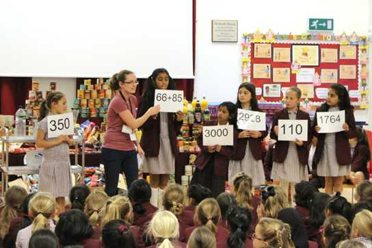 During the Harvest Assembly, Laura talked about some of Urban Outreach's important work