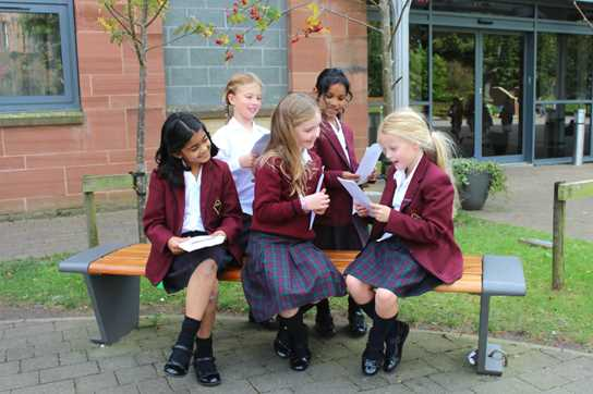 Pupils enjoyed listening to one another read poems aloud