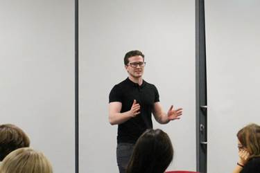 Personal Trainer Matt talked about diet and exercise as part of his talk