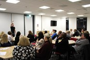 The Leverhulme Suite was packed with interested parents for the Health and Fitness talk