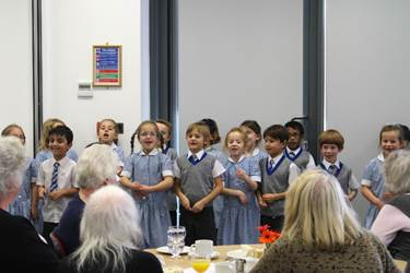 Beech House Choir performed for Tea at the Riley guests
