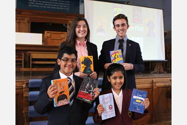Bolton School Year 7 and Sixth Form pupils with the 2017 shortlist