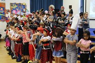 The Year 2 pupils told swashbuckling stories and sang rousing sea shanties