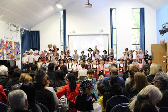 The assembly was enjoyed by parents and children alike