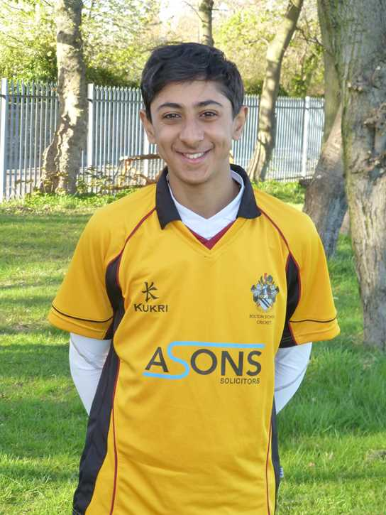 Haseeb Hameed during his playing days at Bolton School