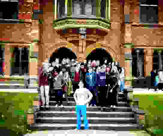 Physics students visit Keble College, Oxford