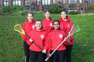 Girls on the A Squad: Ellie, Louisa, Molly, Alisa and Georgina