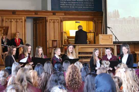 The Accidentals sang 'Be Still My Soul' as part of the commemoration