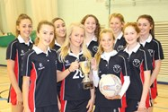 The victorious U15 netball team