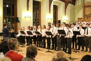 The Joint Chamber Choir offered up a melodic rendering of Autumn Leaves