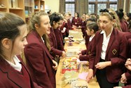 The cake and sweet sales were hugely popular all week
