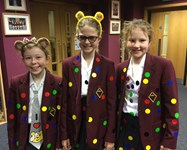 Girls got into the spirit of the Big Spotacular