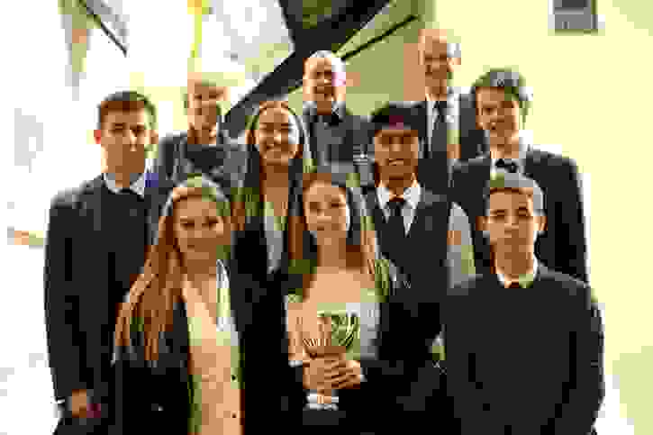Business Challenge Final 2016 winners Tranquillow with judges