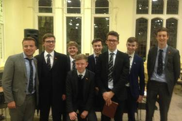 The Sixth Form students who debated in French, German, Russian and Spanish