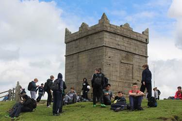 Rivington Charity walk summer 2016 boys at Pike