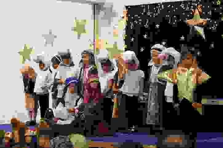 Reception Nativity 2016 shepherds and star