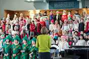 Winter Warmer Concert - the Junior Girls perform, Christmas 2016