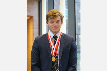 Arron Davies Water Skiing Medals