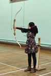 A girl at Archery Club