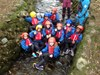 Junior Girls gorge walking at Patterdale Hall