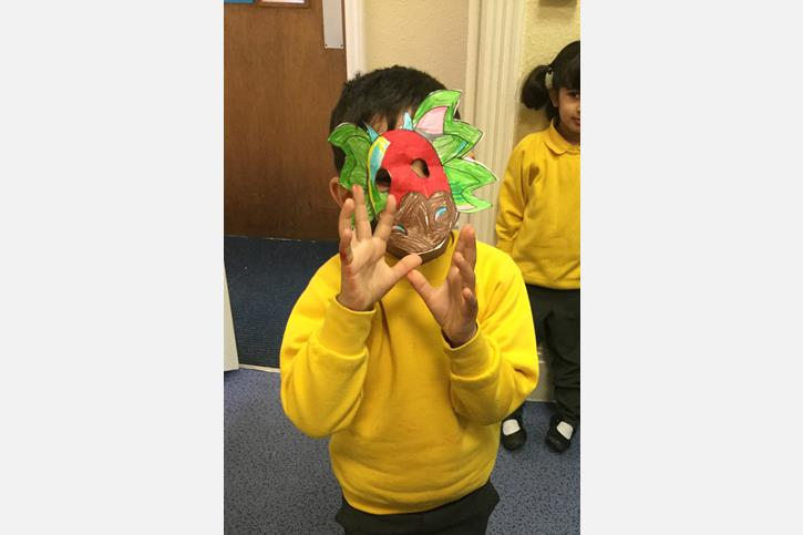 Nursery Class Chinese New Year - dragon mask