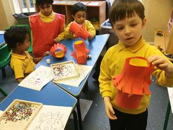 Nursery Class Chinese New Year - paper lanterns