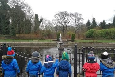 Haigh Hall - fountain