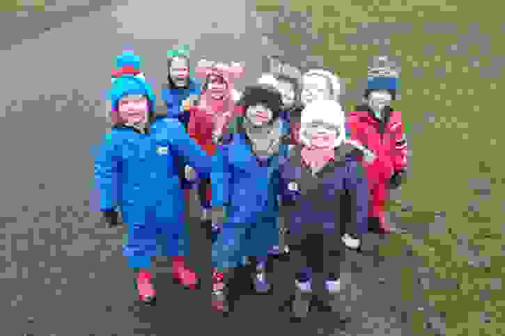 Haigh Hall - nature day group