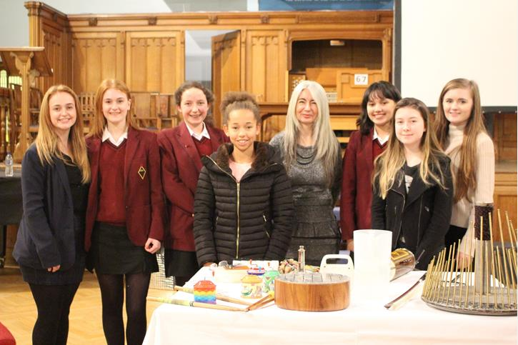 Dame Evelyn Glennie with musicians