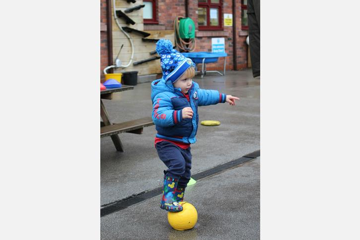 BWFC Session - Tweenies boy standing with ball