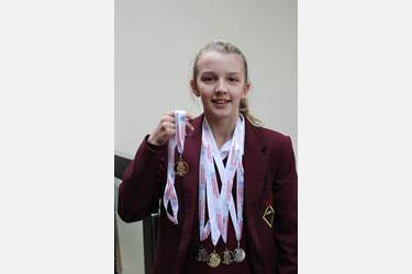 Lancashire Swimming Medals - Lucy