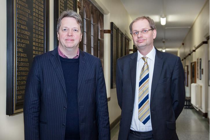 Nigel Short with Philip Britton