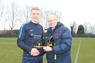 James receives his ISFA international cap